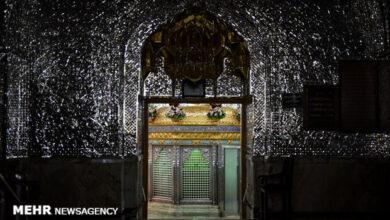 تصویر بازگشایی دربهای حرم حضرت عبدالعظیم (ع) روی مردم