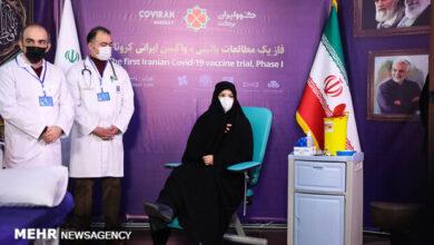 تصویر تزریق دومین دُز واکسن ایرانی کرونا به گروه اول داوطلبان