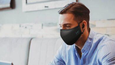 تصویر ماسک طبی مناسب برای صحبت کردن با موبایل از راه رسید