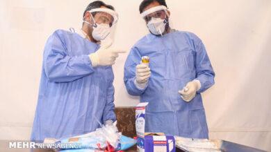 تصویر تزریق واکسن کرونا برای ۲۰۰ نفر از کادر درمان یزد