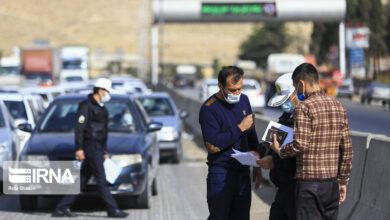 تصویر روزانه ۱۰۰ نفر در زنجان برای اخذ مجوز تردد به راهور مراجعه میکنند
